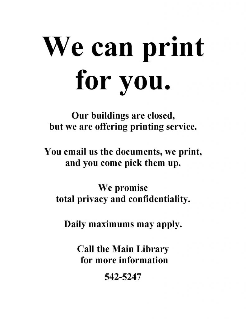 We can print sign